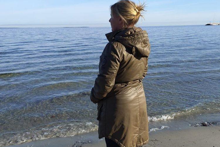 Anki på stranden